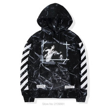 S-XL autumn winter VIRGIL ABLOH off white hoodies men women hip hop casual BLACK MARBLE yellow Twill hooded sweatshirt kany west(China (Mainland))