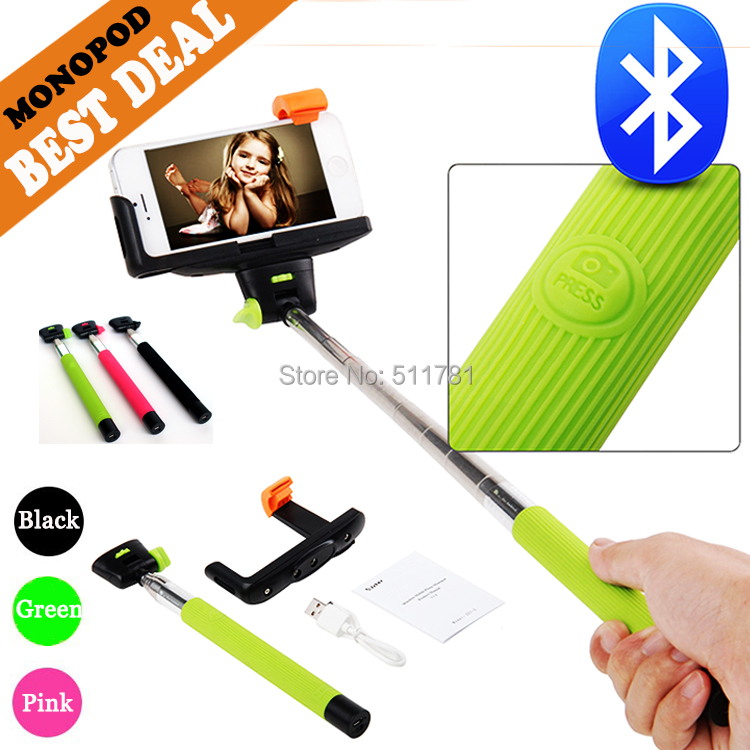 Z07-5 Palo Selfie Bluetooth Extendable Handheld Monopod Selfie Stick With Bluetooth Bult In Shutter For Iphone Samsung(China (Mainland))