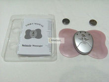 Free shipping 2pcs Electronic Slimming Butterfly Body Muscle Massager / Health Care Massager