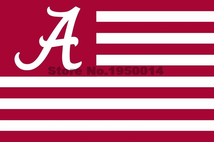 Alabama Crimson Tide With Modified US Flag 3ft x 5ft Polyester NCAA Alabama Crimson Tide Banner Flying Size No.4 144* 96cm(China (Mainland))