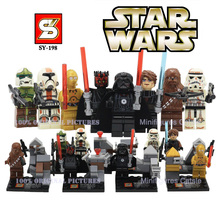 8 set/lote SY198 Star Wars Minifigures Building Block Starwars Mini figura de acción VS Marvel Avengers Super Heroes ensamblar bloques huecos(China (Mainland))