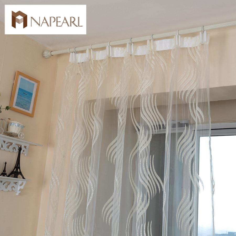 Modern style fashion design jacquard striped curtain tulle fabrics for bedroom window(China (Mainland))