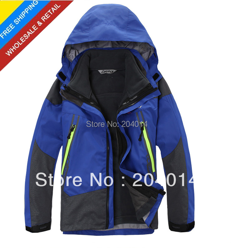 kid's children child winter outdoor waterproof windproof hiking camping jacket hoodie ski coat outerwear parka for boy girl(China (Mainland))