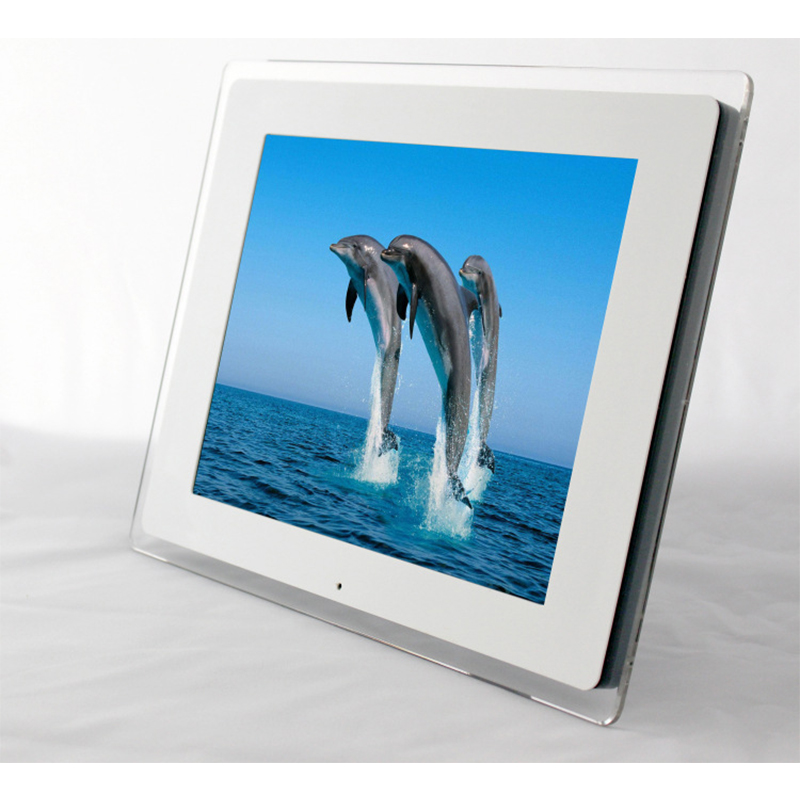 15 LED Digital Photo Frame 1024*768 High Resolution With Alarm Clock MP3 MP4 Movie Player With Remote Control Christmas Gift