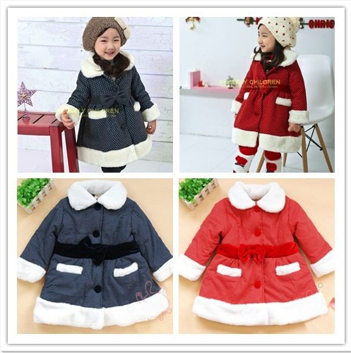 free shipping hot sale girls outerwear Christmas coats kids clothes for winter baby jacket coat girls fashion clothing princess(China (Mainland))