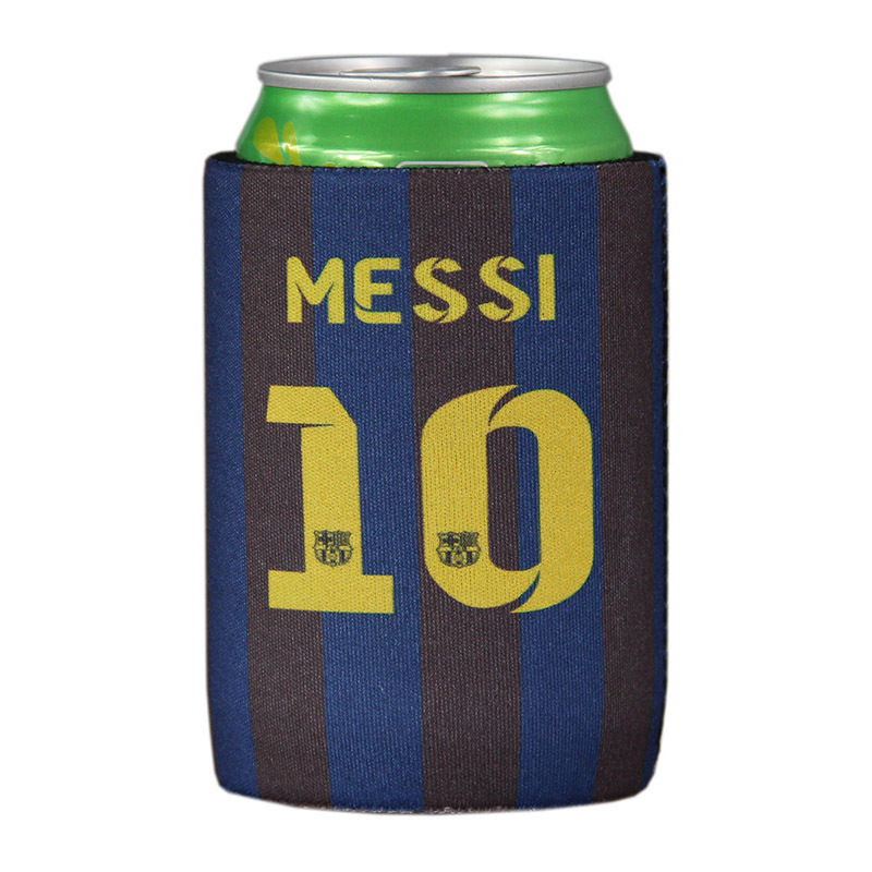 Free shipping La Liga FC Barcelona printing beer can cooler, stubby holder for beer(China (Mainland))