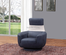 Wholesale Modern  fabric sofa chair with function swivel and folding back cushion single chair  1321(China (Mainland))