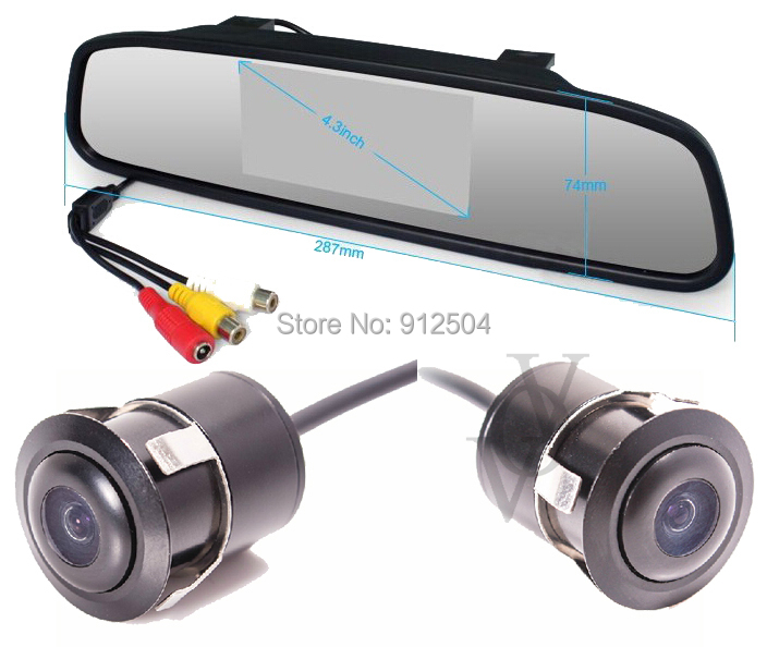 4.3 Inch TFT Car LCD Rearview Mirror HD Display DVD Monitor Camera CA401 - Shenzhen VOV Technology Co., Ltd. store