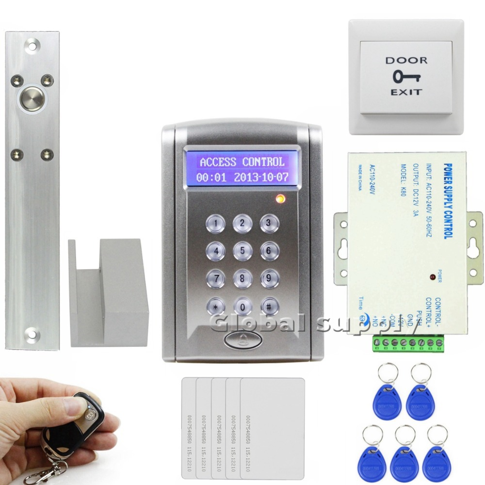 DIY Remote Controlled RFID Access Control Door Lock System Kit +Electric Bolt Lock Security System For Home / Office BC200(China (Mainland))