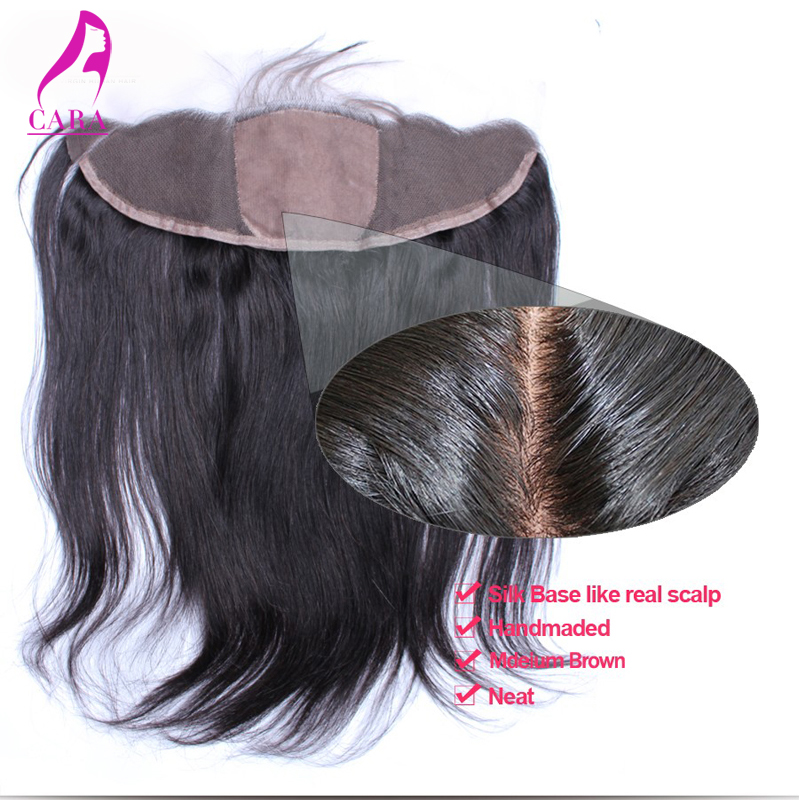 Indian Virgin Hair Silk Base Frontal Middle Three Free Part Lace Frontal with Baby Hair 13x4 Lace Frontal Closure Bleached Knots<br><br>Aliexpress