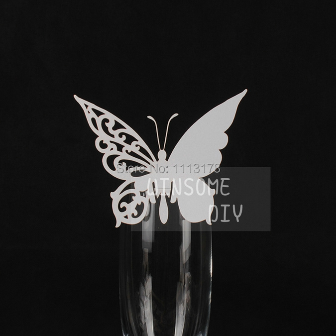 Wine Glass Cards 20pcs table cards Wine Glass Markers Wedding Cake Toppers guest name card laser Cut Card 81(China (Mainland))