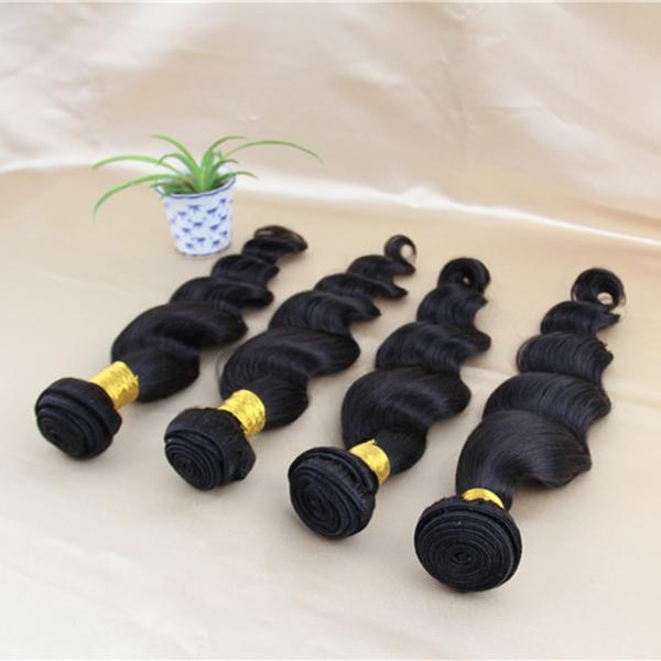 Soft Hair Products Cheap human hair bundles 7A Grade unprocessed virgin peruvian loose wave 4pcs lot(China (Mainland))