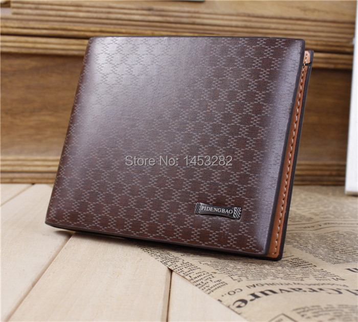 New Stylish Men's Cow Leather Wallet Pocket Card Clutch Bifold Purse Coffee(China (Mainland))