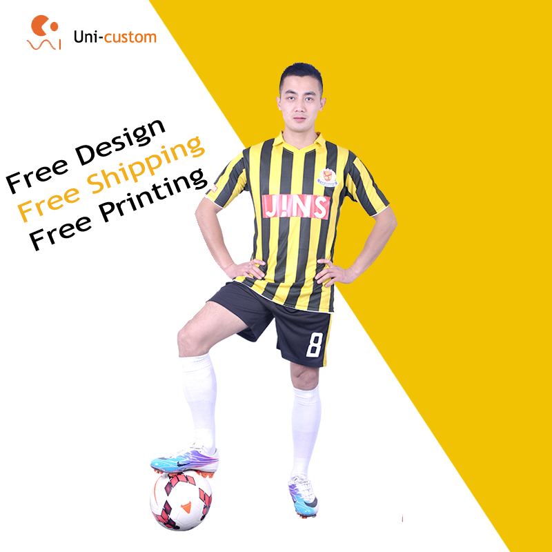 Custom personality men's short sleeve sublimation soccer jersey ,custom football kit for kids or women.(China (Mainland))