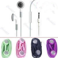 D19Free Shipping  3.5mm Earphones Headphone Headset with Mic For iPhone 2G 3Gs 3G 4 4G