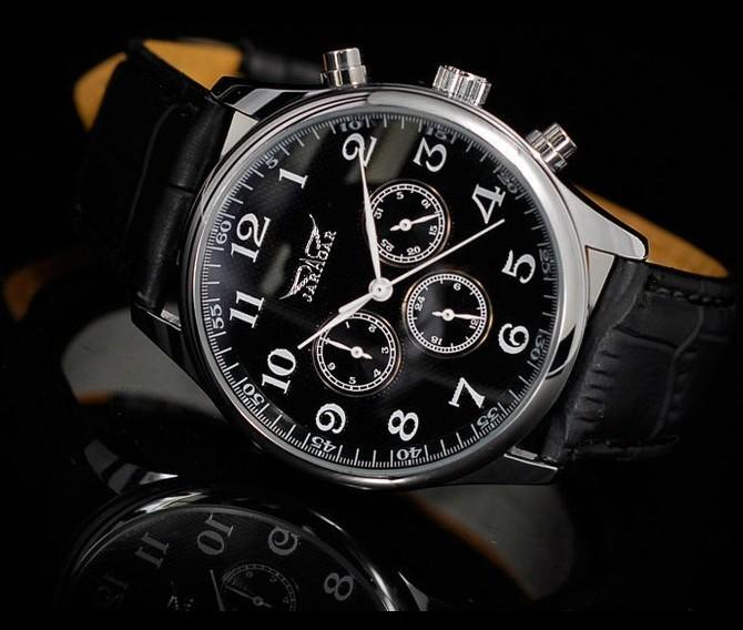 Automatic mechanical watch men's fashion Watch Leather Mechanical Wrist Watches New Design Mens Luxury(China (Mainland))