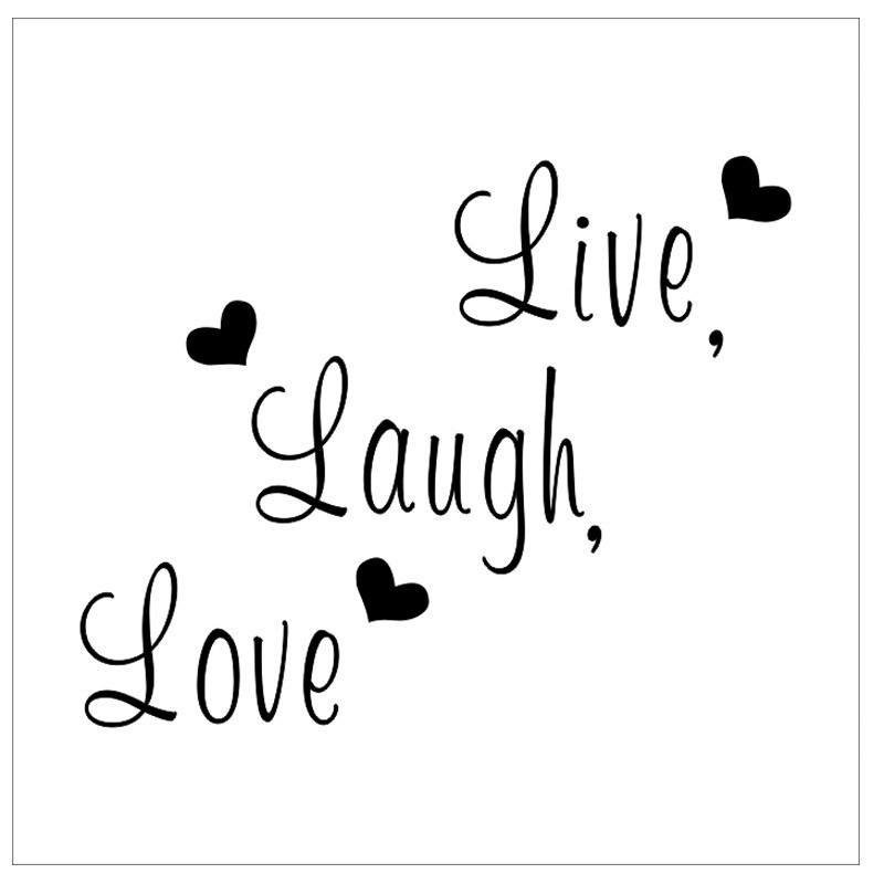 Free shipping: Live Laugh Love Quote Wall Stickers Home Decor Art Decal Sticker Decals Quote Saying Words Phrases