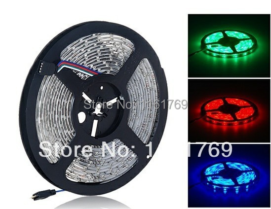 Waterproof 5m lot Flexible 300 SMD lamp 3528 RGB Waterproof LED Strip Light Ribbon Tape Christmas Party Car Indoor Decoration(China (Mainland))