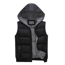 2015 New Arrival Winter Men Cotton Waistcoat Korean Style Slim Hooded Handsome Casual Wear Y00111(China (Mainland))