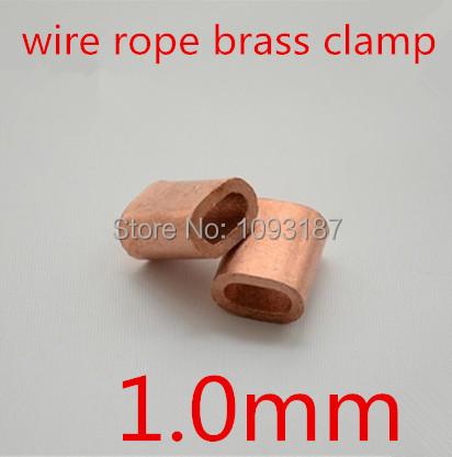 100pcs/lot  m1  1MM  Diameter wire rope brass clip clamp  brass Ferrules <br><br>Aliexpress