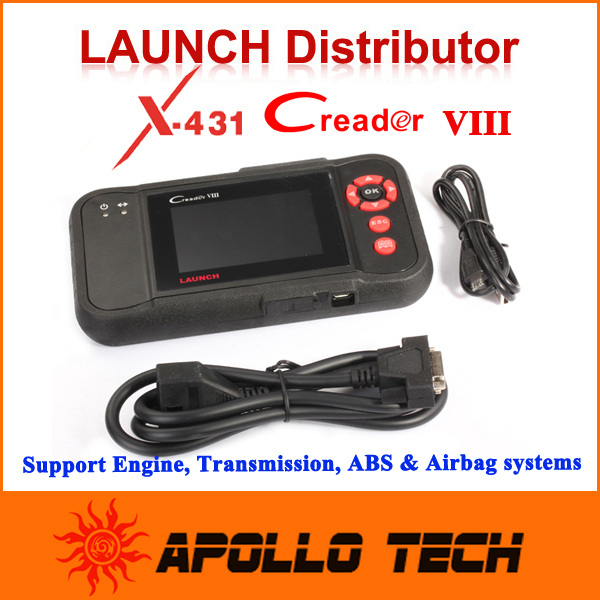 100% Original Launch Creader Viii Creader 8 Support OBDII Cars 4 Systems Engine Transmission ABS and Airbag Free Update Online(China (Mainland))