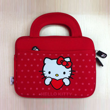 Cute Hello Kitty Carrying Soft Case Smart Cover For iPad Mini And Samsung Tab All in 7'' Inch Tablet PC(China (Mainland))