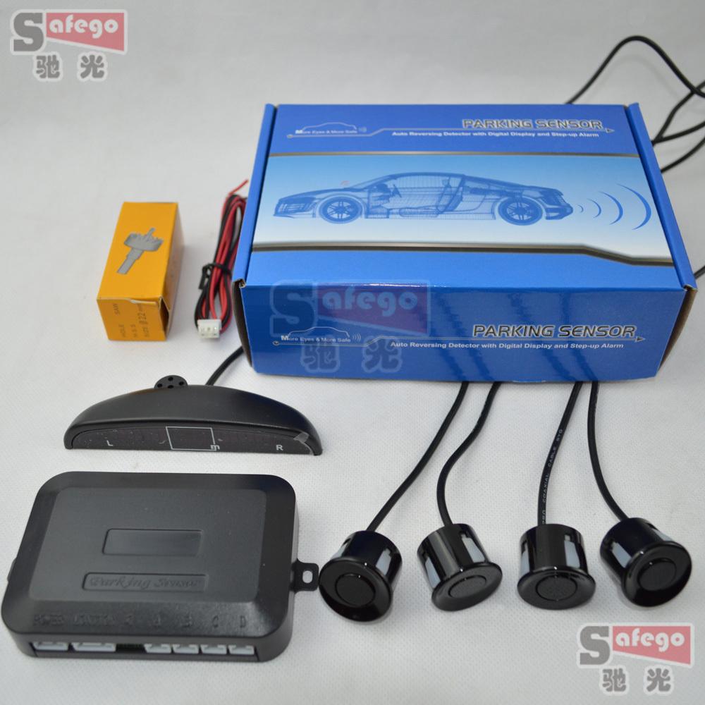 1 set car led  Parking Sensor car backup sensor Backup Radar Detector  Back light Display  4 Sensors Parking Assistance (China (Mainland))