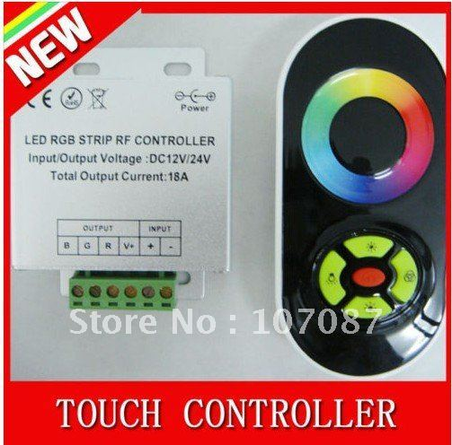 Free shipping 12V 18A RF Wireless RGB controller for RGB led strips