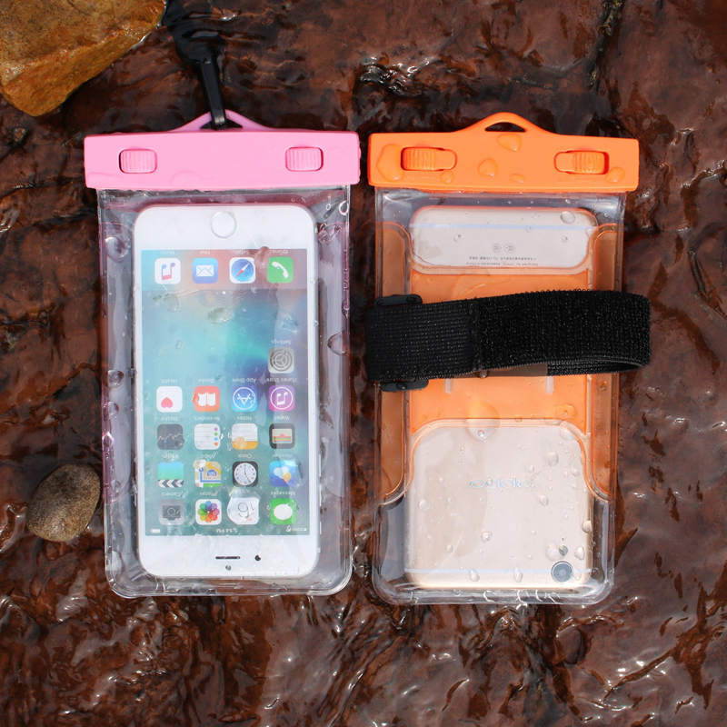 1PCS Clear Waterproof Pouch Dry Case Cover For 5.5 inch Phone Camera Mobile phone Waterproof Bags for IPHONE4S 5 5S 6 6S huawei(China (Mainland))