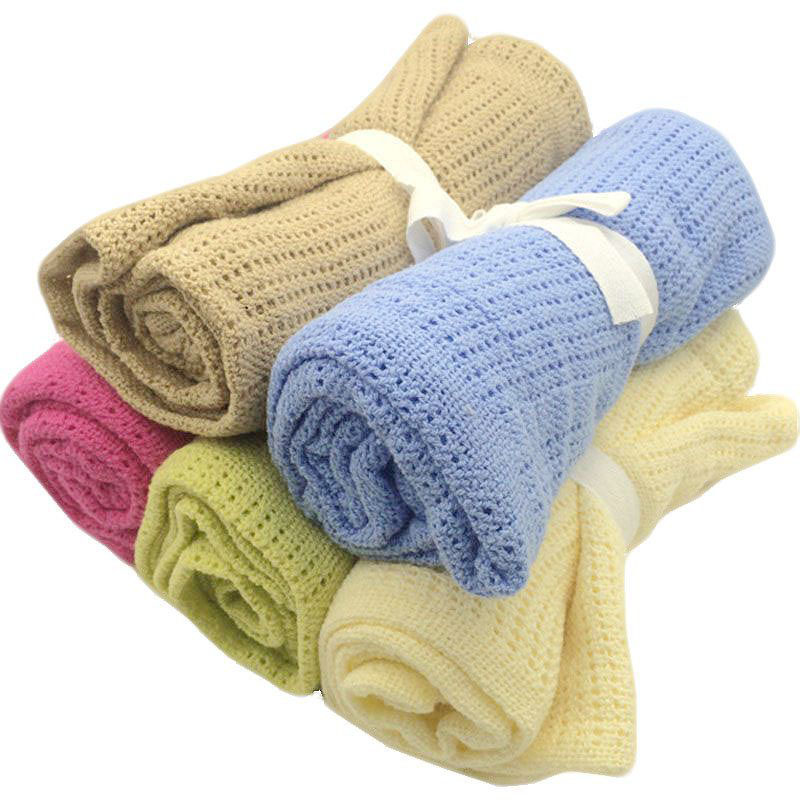 Popular Knitted Cotton Baby Blanket Buy Cheap Knitted