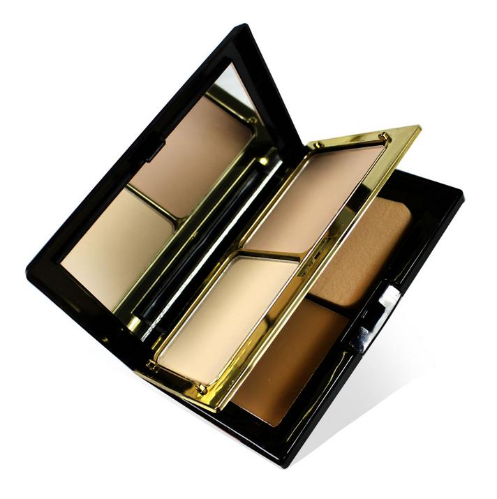 High Quality Makeup 3 Colors Pressed Powder Dry Wet Powder 3 in 1 Face Contour Powder Palette with Mirror Puff Cosmetic<br><br>Aliexpress
