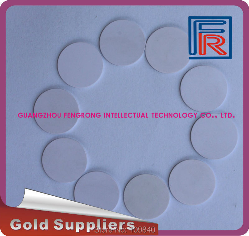 Dia 30mm RFID PVC Token with S50 chip,HF ISO14443A proximity RFID tag 100pcs/lot(China (Mainland))