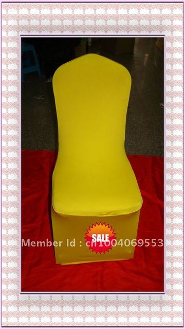 Free shipping -Top quality yellow  spandex chair cover/lycra chair cover