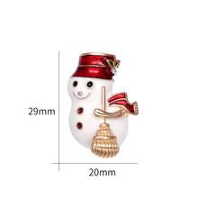 Baiduqiandu Cute Kristal Snowman Bros Pin Wanita Keluarga Hadiah Natal Enamel Anak Perhiasan Aksesoris(China)