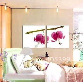 Free Shipping !!! Best Quality ,Bedroom  Modern Flower Oil Paintnig On  Canvas  ytthh002