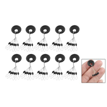 2015 Highly Commend10 Pcs 6 in 1 Size L Black Rubber Oval Stopper Fishing Bobber Float