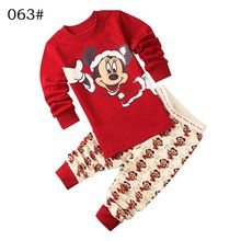 Buy Sleepwear kids girl minnie clothing set baby girl 100% cotton pijama infantil kids pyjama garcon mickey boy clothes 2-7 yrs for $6.55 in AliExpress store