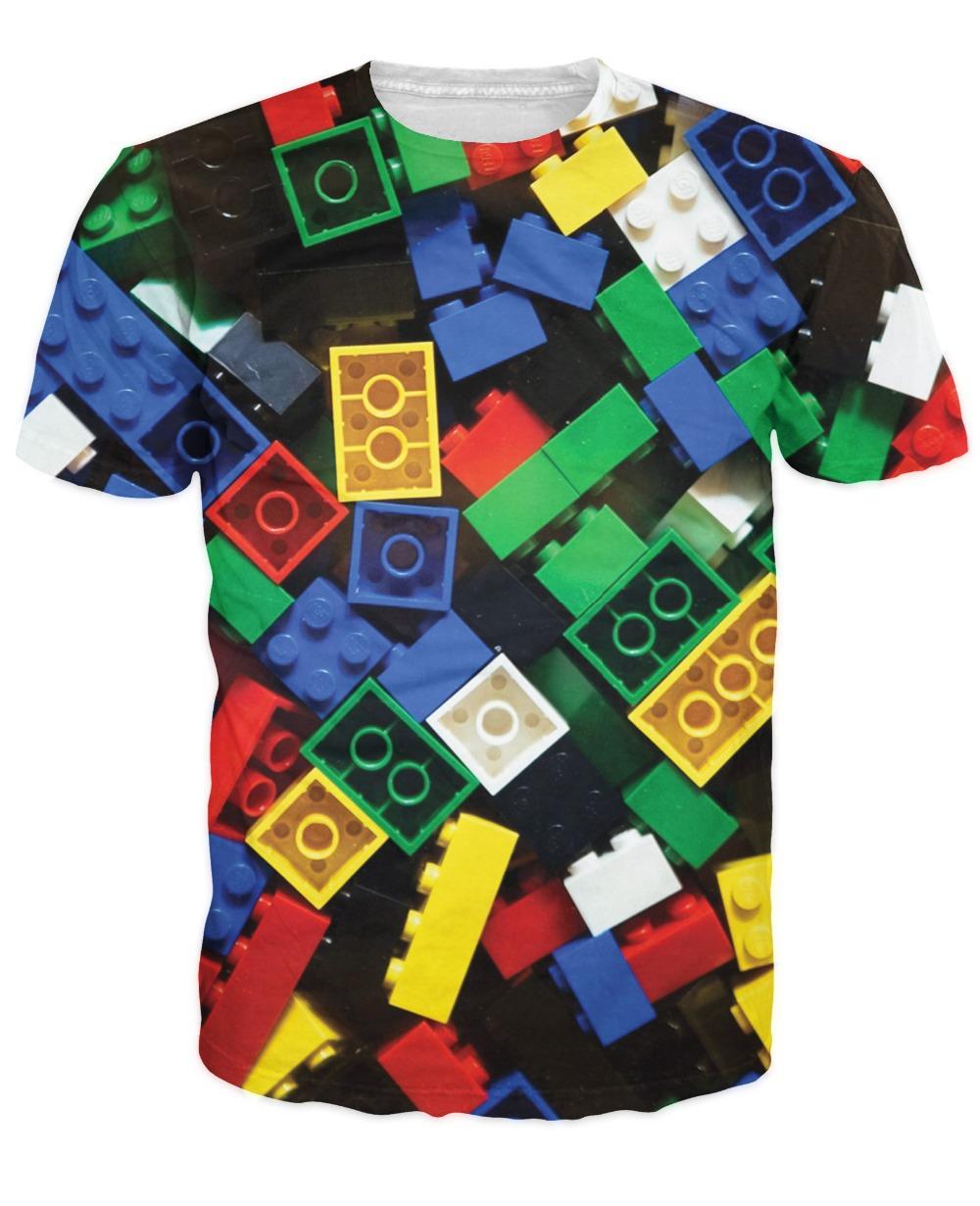 Summer Style Lego Bricks T-Shirt super popular children's toy 3d print t shirt camisetas for Unisex Women Men Plus Size S-XXL(China (Mainland))