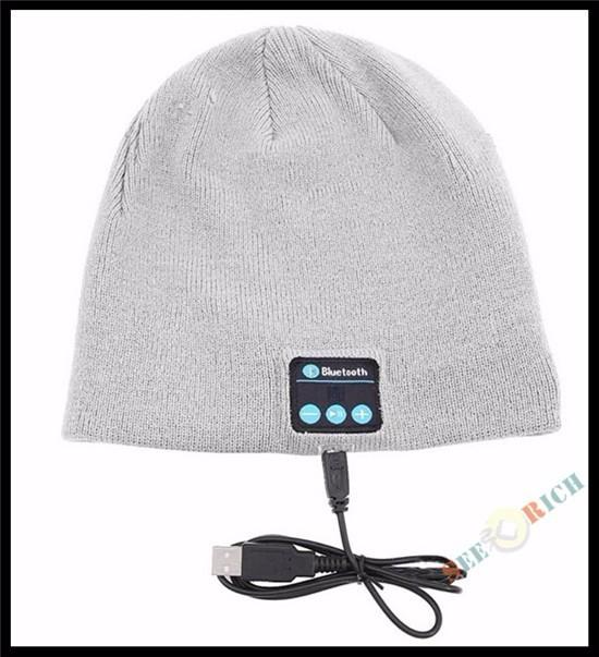 Men&Women Insert TF/SD Slot Knit Beanie Wireless Smart Bluetooth V4.2 Cap Headset Headphone Speaker Mic Magic Sport Winter Hat