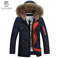 Winter Down Jacket Men Fashion Fake Fur Hoodies Thick Jackets And Coats Men Winter Warm Parkas Size XS-XL(China (Mainland))