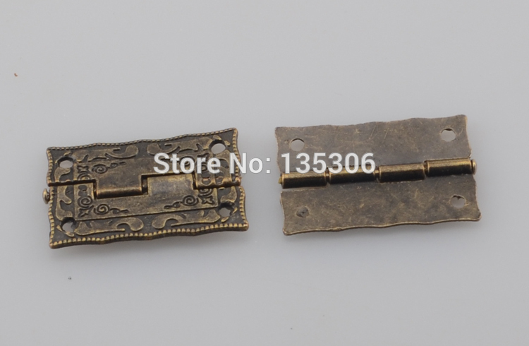 30pcs/lot Antique Brass Jewelry Box Hinge 36x23mm with Screws E23(China (Mainland))