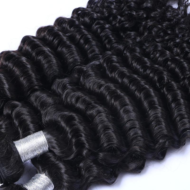 Brazilian deep wave hair with closure 8a Mink virgin hair bundle deals alimoda deep wave brazilian hair bundles with closure