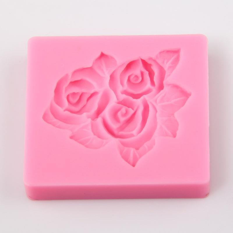 3D Flower Rose Silicone Cake Mold Soap Molds Fondant Cake ...