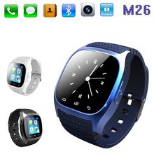 luxury sport wristwatch Bluetooth Smartwatch M26 with Dial SMS Remind Pedometer for iphone IOS Android smartphones