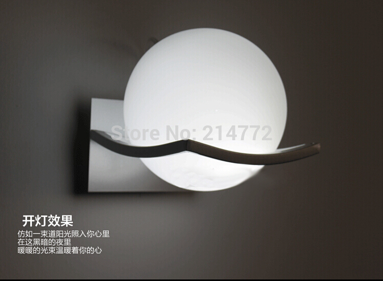 New Arrival Unique And Novelty Led Wall Lamps Glass Ball