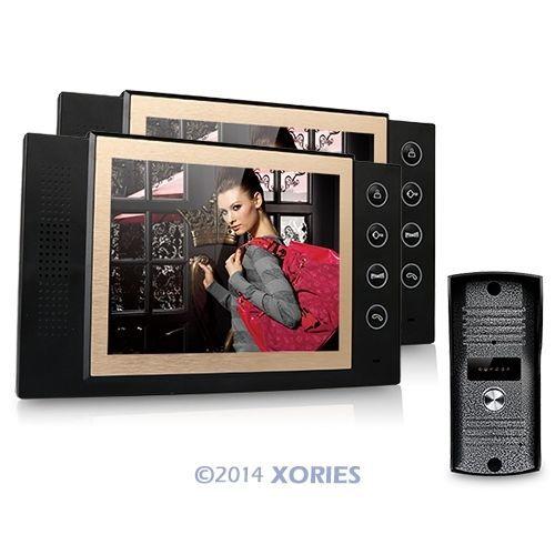 """8"""" LCD Video Door Phone DoorBell Intercom System 700TVL Camera Night Vision 1v2(China (Mainland))"""