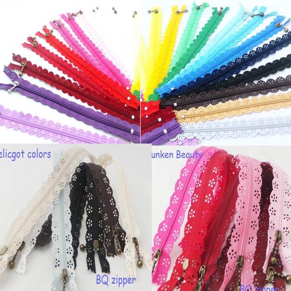 aliexpress Freeshipping (50pcs/lots)20cm zippers lace nylon finish zipper for sewing wedding dress etc DIY(China (Mainland))
