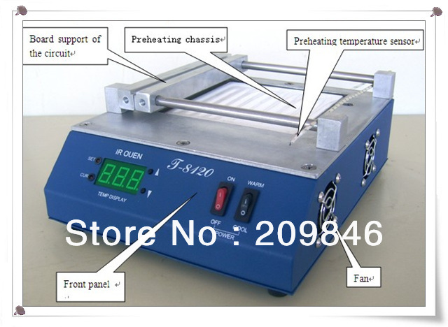 DHL free shipping PUHUI T-8120,T8120,SMD Infrared Preheating PID Temperature Controlling Preheating Station Preheating oven(China (Mainland))