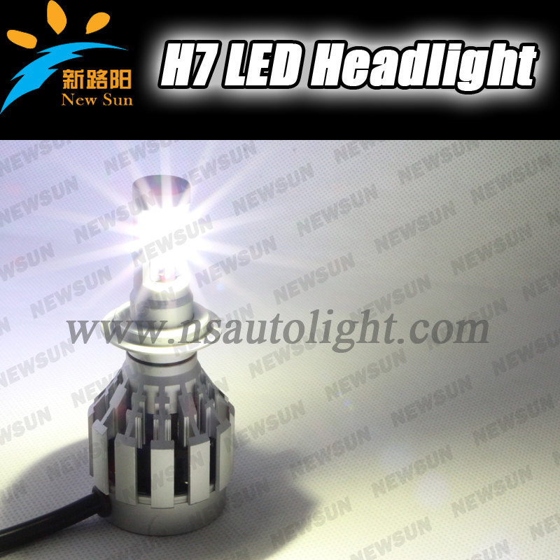2014 new CREE-XML2 LED chip 12-24v h7 led headlights bulb, 20W 2000lm car truck Universal headlamps H7 factory supply