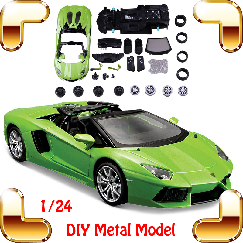 New Year Gift MAISTO LP700-4 1/24 DIY Metal Model Sports Roadster Car Vehicle Assemble Toys Car Alloy Handwork Game Present(China (Mainland))